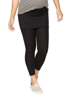 Splendid No Belly Skinny Leg Maternity Pants, Black