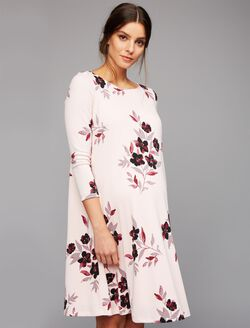 A-line Maternity Dress, Pink