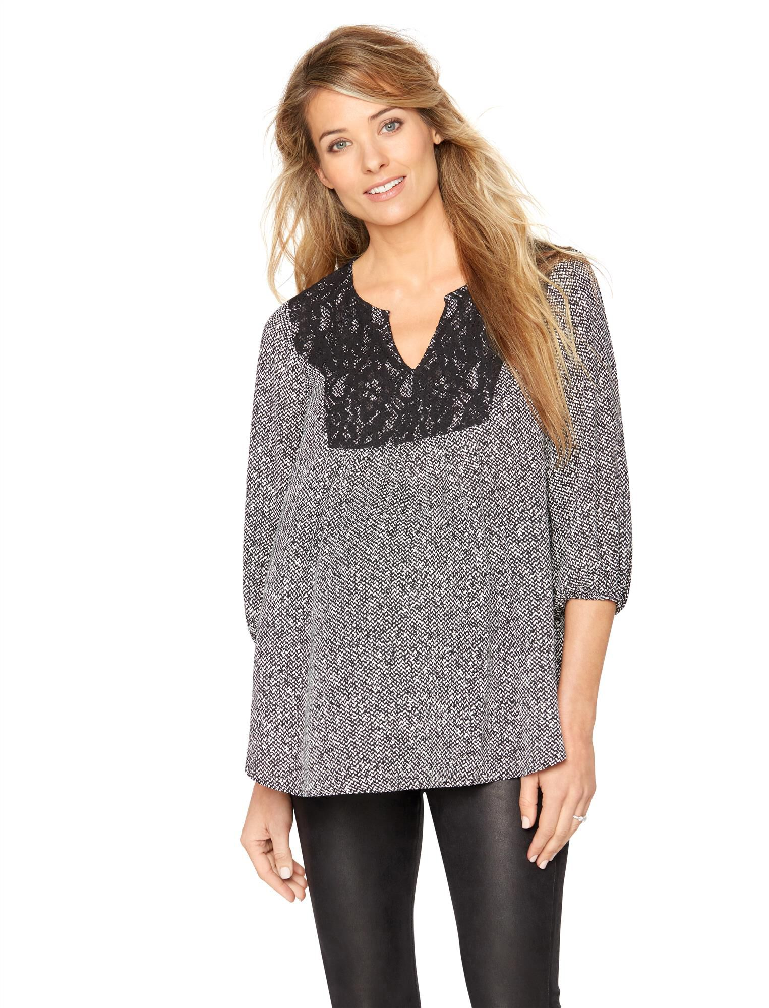 Lace Maternity Blouse