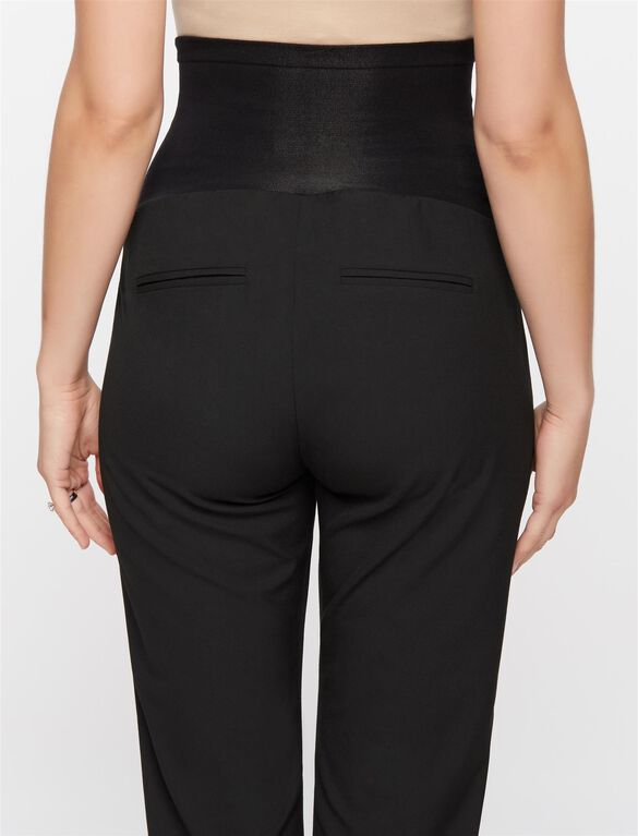 Secret Fit Belly Straight Trouser Maternity Pants, Black