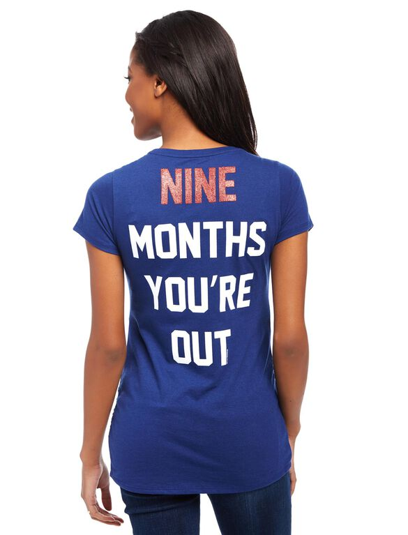 Minnesota Twins MLB You're Out Maternity Tee, Twins Navy