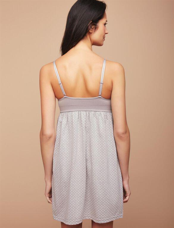 Seamless Bodice Nursing Nightgown, Dot