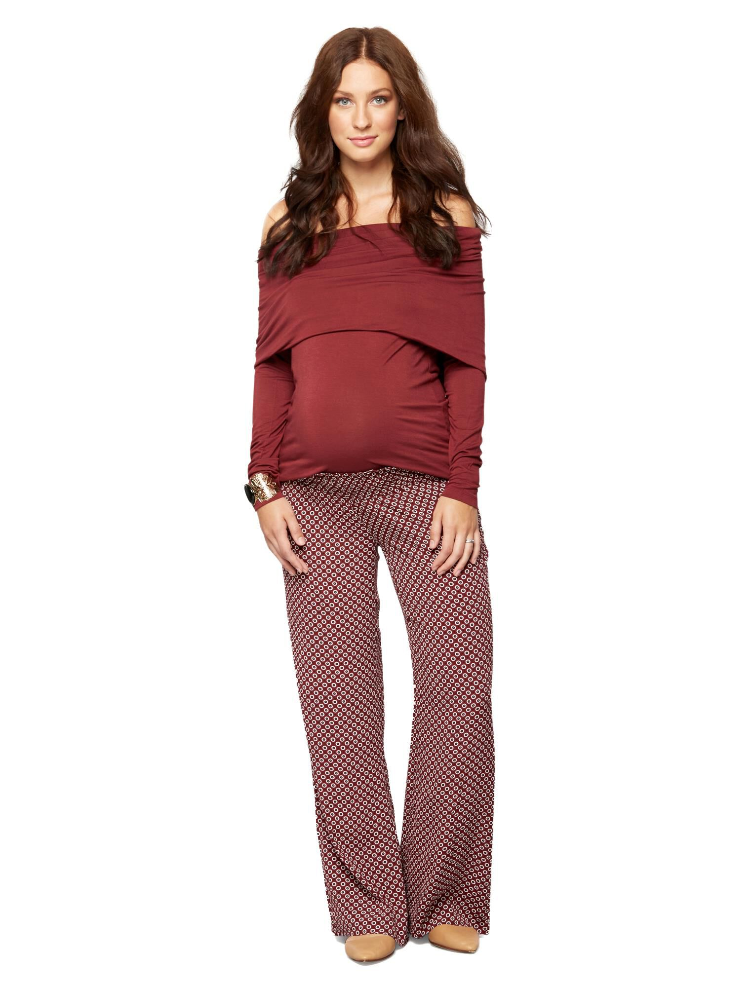 Under Belly Crepe Wide Leg Maternity Pants