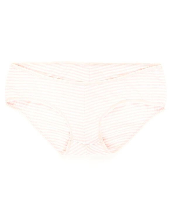 Cotton Collection Striped Maternity Girl Short (single), Pink/White Stripe
