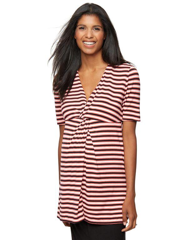 Rachel Zoe Soft Jersey Knit Maternity Top, Stripe Sorbet