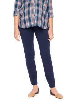 Secret Fit Belly Ponte Skinny Leg Maternity Pants, Navy