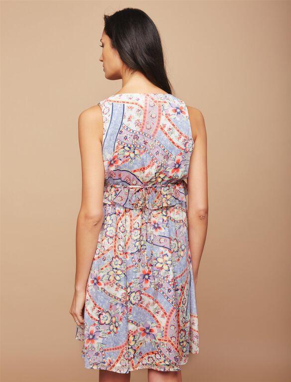 Ribbon Print Maternity Dress, Ribbon Print
