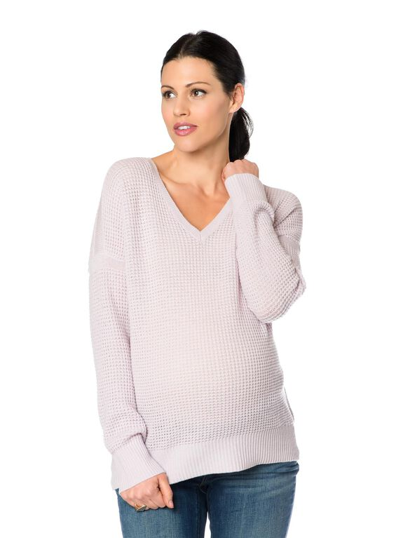 Vince Cashmere Maternity Sweater, Pink
