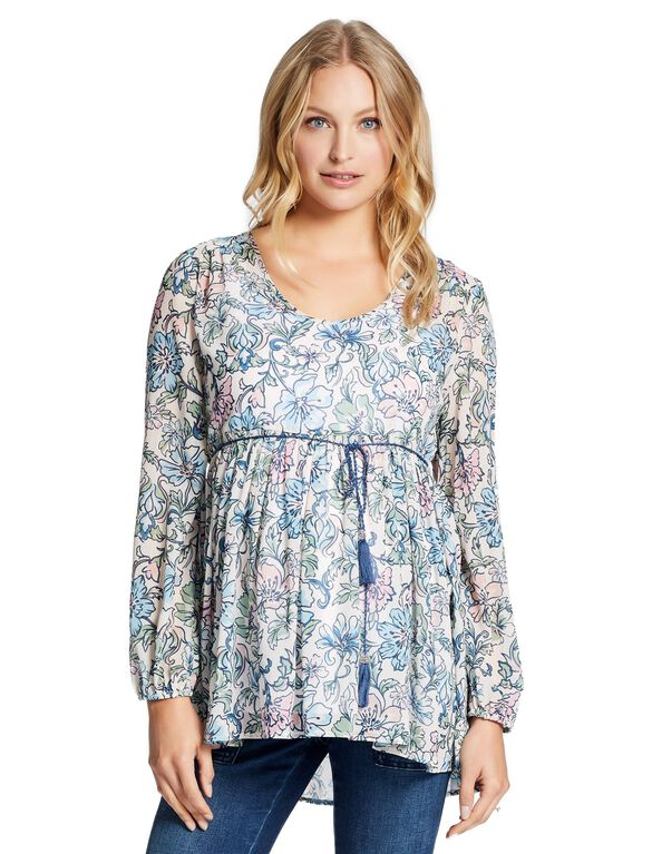 Jessica Simpson Babydoll Maternity Blouse, Floral