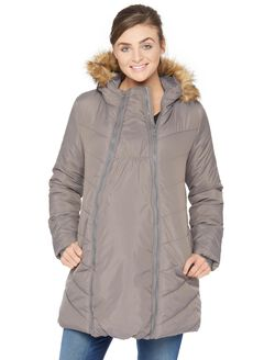 Modern Eternity 3 In 1 Maternity Puffer Coat, Grey