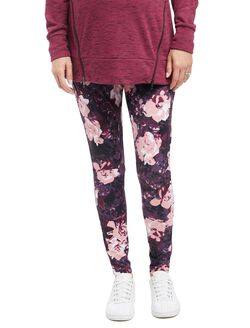 Secret Fit Belly Maternity Performance Leggings- Floral, Floral