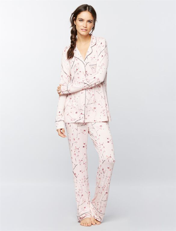 Relaxed Fit Nursing Pajama Set, Floral