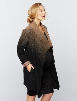 BB Dakota Wrap Wool Maternity Jacket, Black/Brown