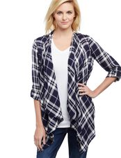 Plaid Nursing Wrap Shirt, Plaid