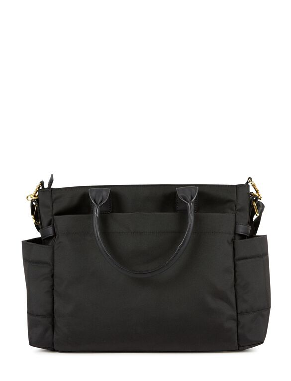 Skip Hop Chelsea 2n1 Downtown Chic Diaper Tote, Black