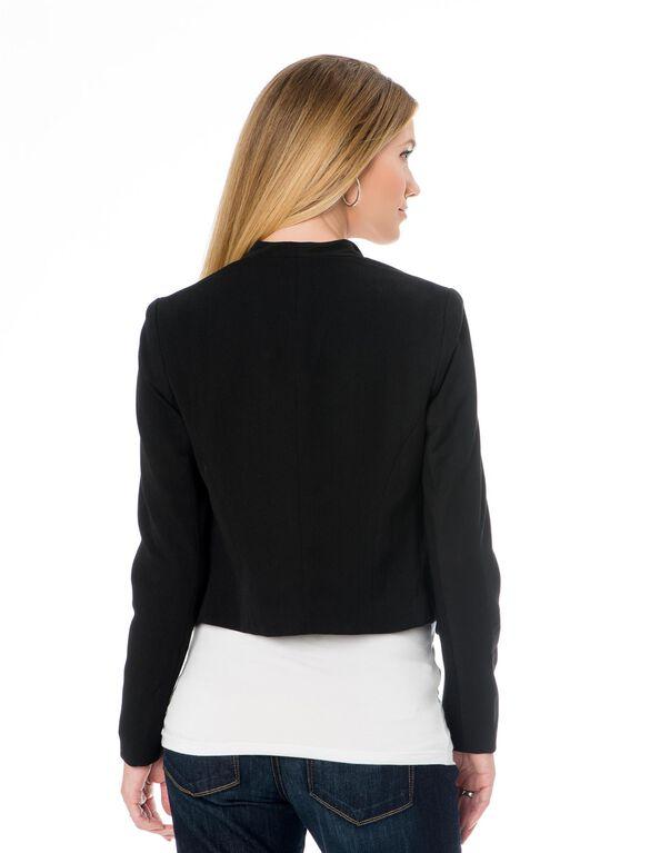Open Front Maternity Jacket, Black