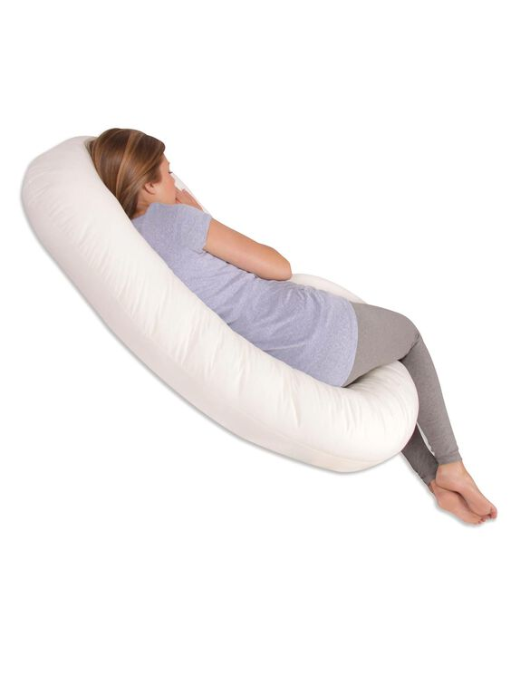 Snoogle Total Body Pillow, White
