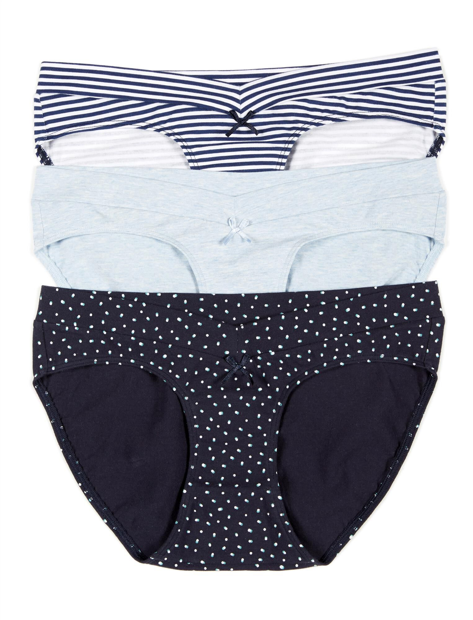 Maternity Hipster Panties (3 Pack)- Stripe/Dot