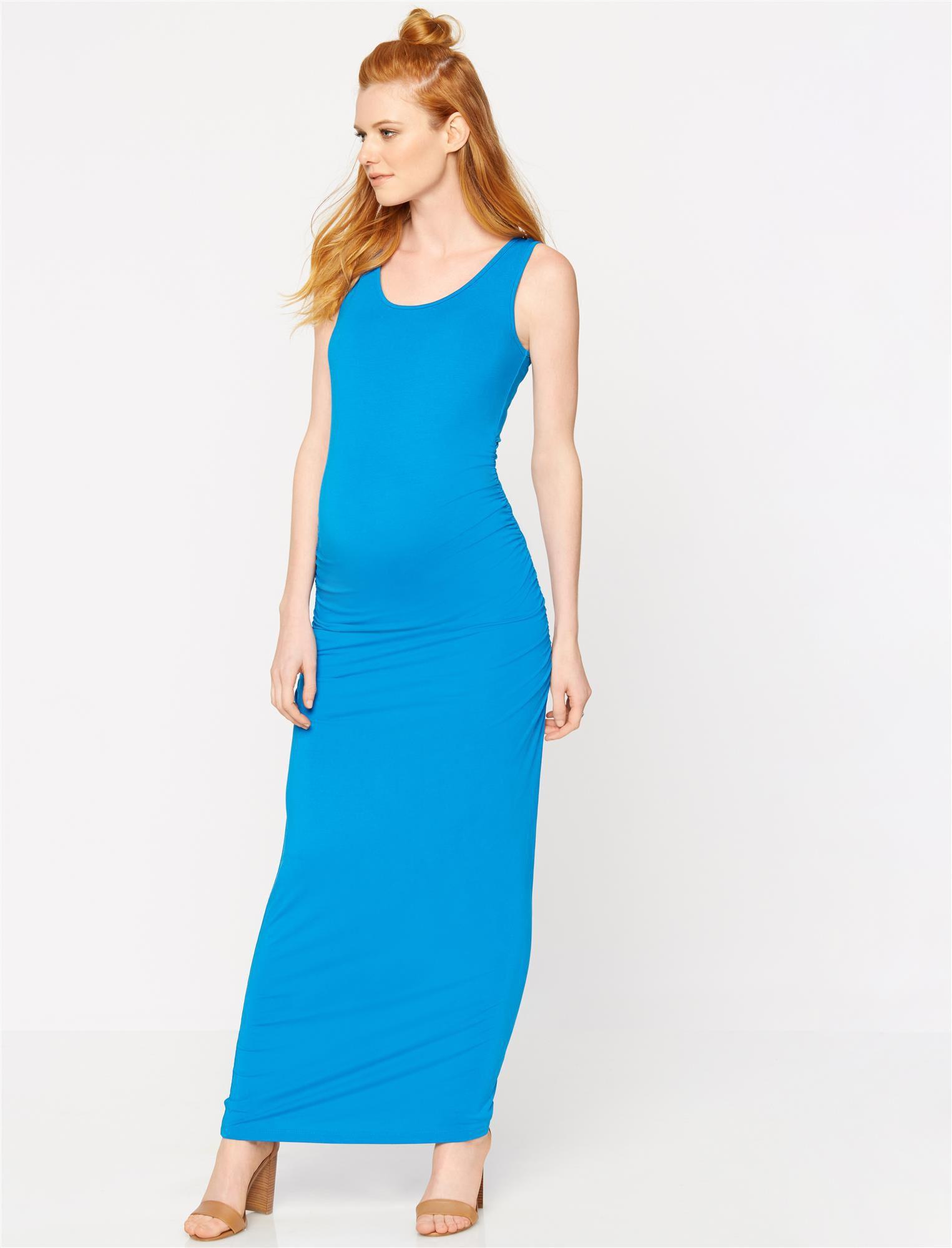 Isabella Oliver Lisle Maternity Maxi Dress- Peacock Blue