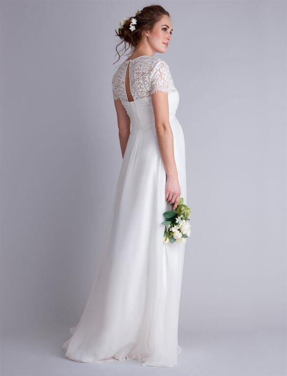 Seraphine Lace Maternity Dress, White