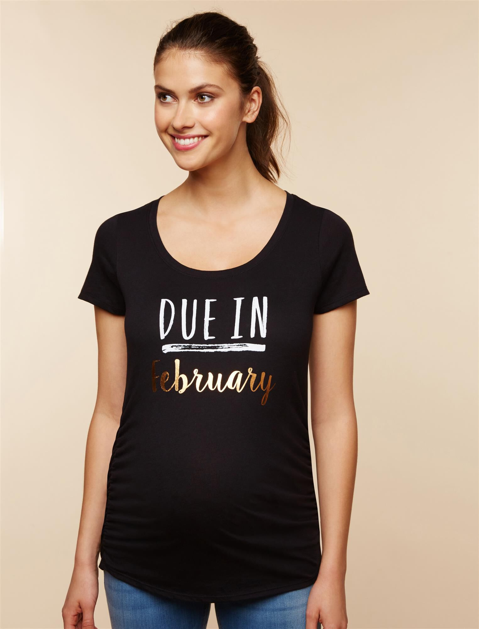Due In February Maternity Tee