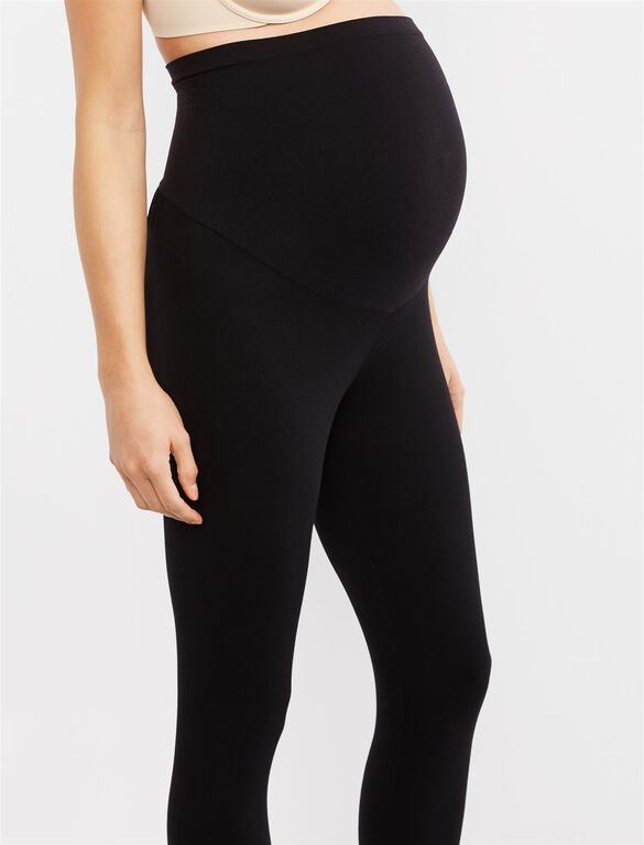 Secret Fit Belly Ruched Maternity Leggings, Black