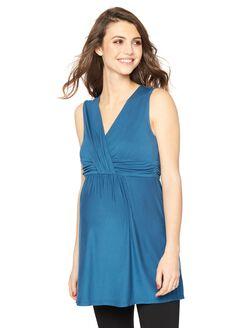 Rachel Zoe Sleeveless Maternity Blouse |, Navy