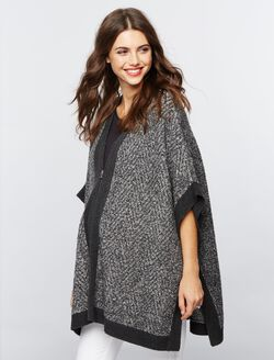 Poncho Maternity Sweater, Grey