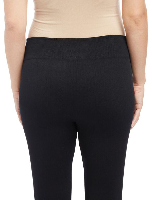 No Belly Belly Maternity Leggings- Black, Black