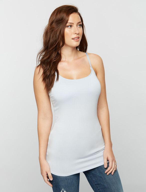 Luxe Clip Down Nursing Cami, Light Blue
