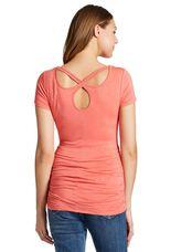 Jessica Simpson Back Interest Maternity T Shirt, Tea Rose