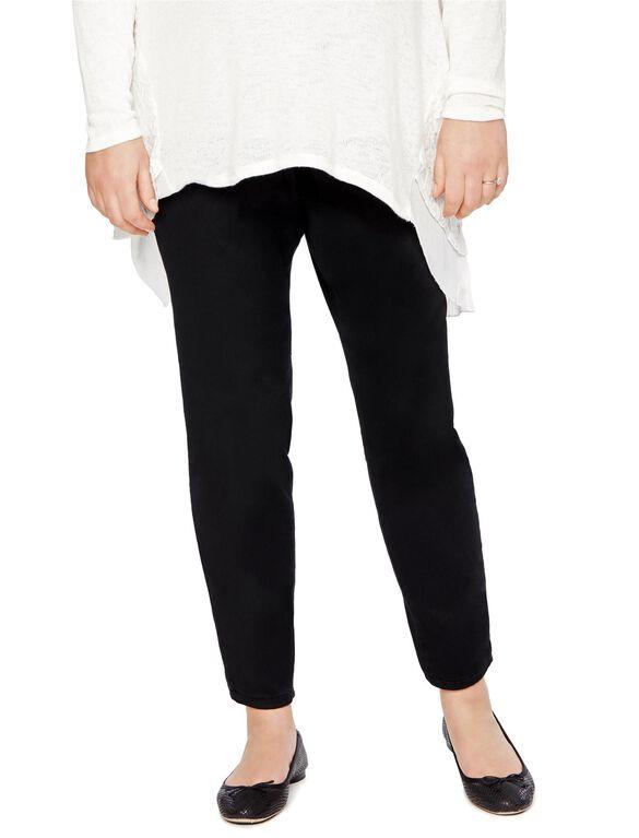 Motherhood Plus Size Skinny Leg Maternity Pants, Black