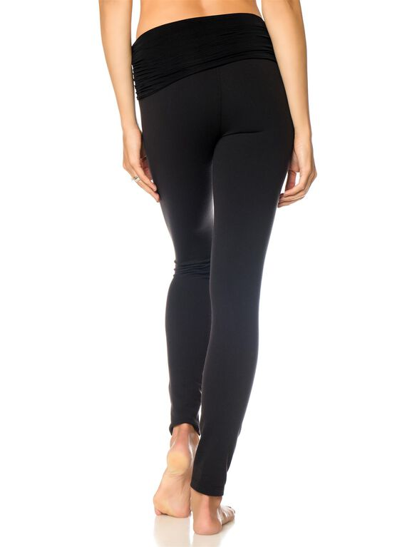 Beyond The Bump Hug The Belly Long Maternity Leggings- Black, Black