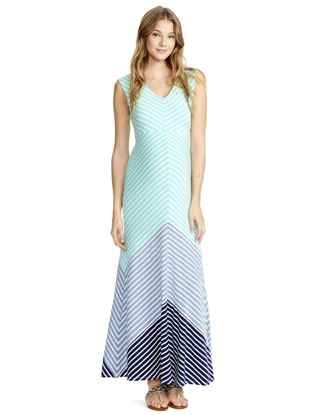 Jessica Simpson Bias Cut Maternity Maxi Dress | Motherhood Maternity