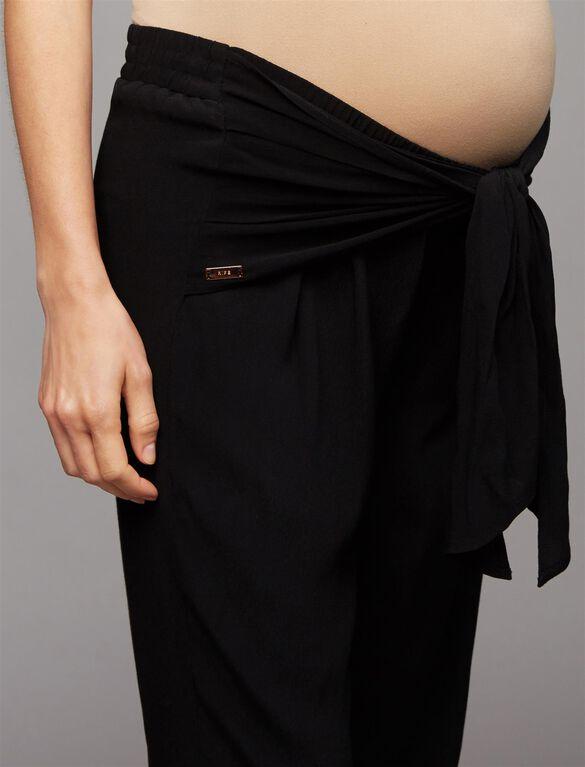 Ripe Under Belly Maternity Jogger Pants, Black
