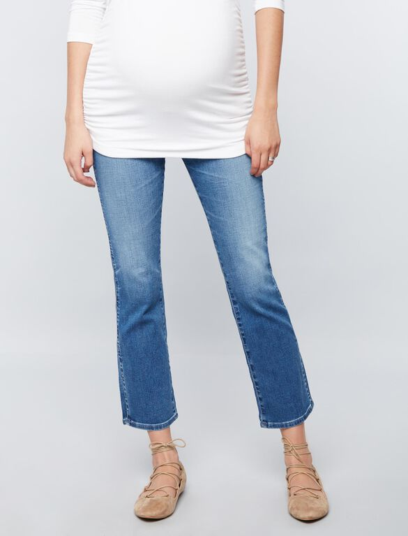 AG Jeans Secret Fit Belly Jodi Crop Side Slit Maternity Jeans, Light Wash