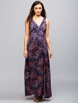 Envie de Fraise Romaine Maternity Maxi Dress, MAXI PRINT