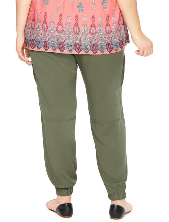 Plus Size Secret Fit Belly Cargo Maternity Jogger Pant, Beetle
