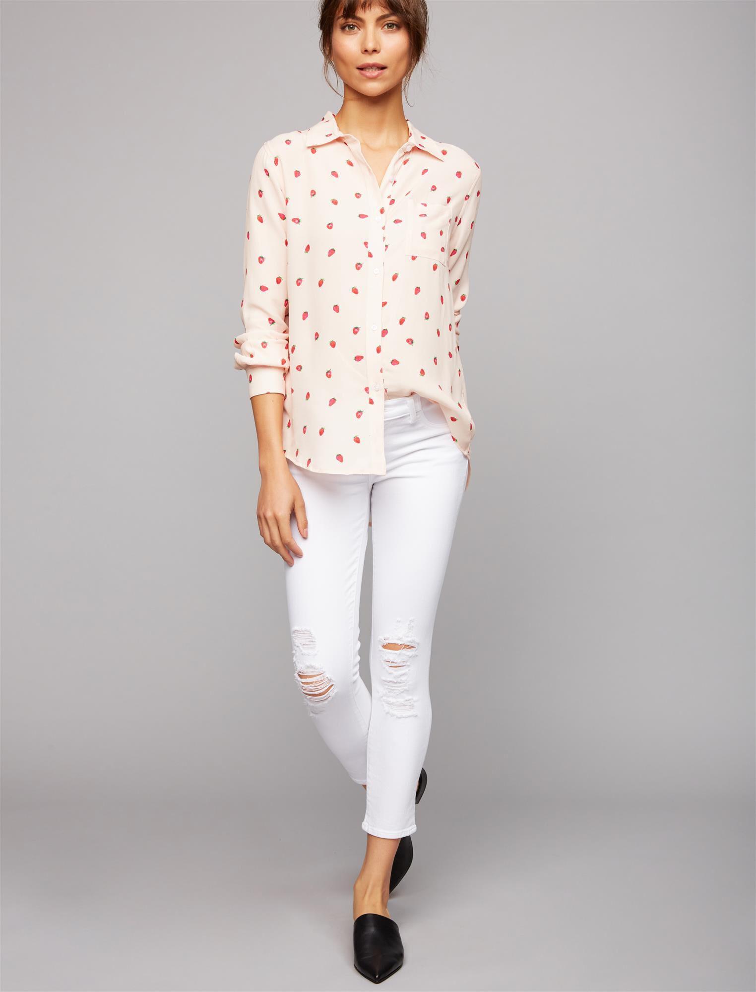 J Brand Under Belly Skinny Maternity Jeans- White