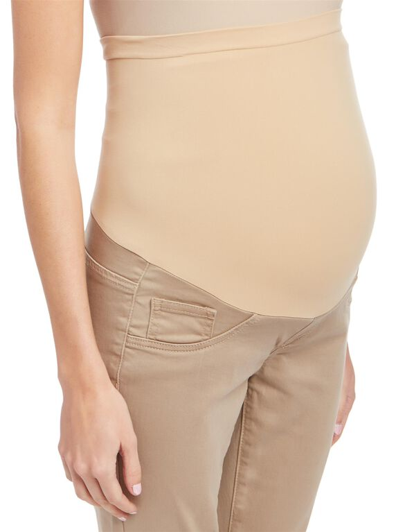 Secret Fit Belly Skinny Twill Maternity Pants- Khaki, Khaki