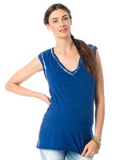 Tie Dye Maternity Tee, Blue