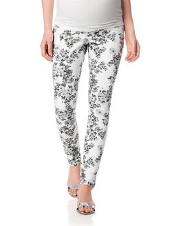 Secret Fit Belly Skinny Leg Maternity Jeans, Floral Print