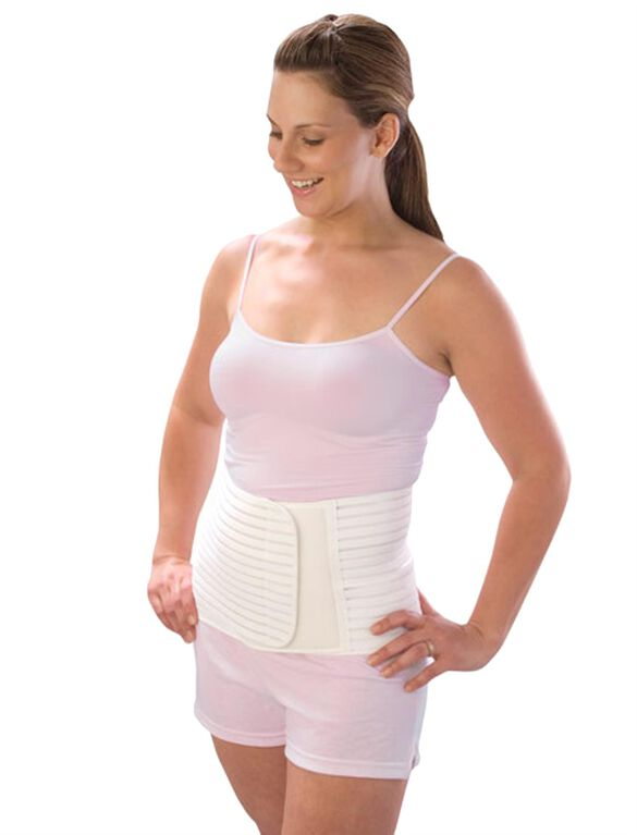 Post Pregnancy Support Belt, White