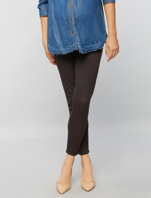 Secret Fit Belly Sateen Skinny Ankle Maternity Pants, Charcoal