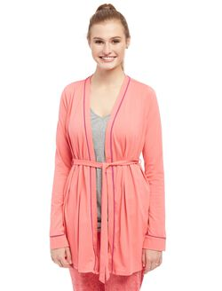 Bump In The Night Wrap Nursing Robe, Coral