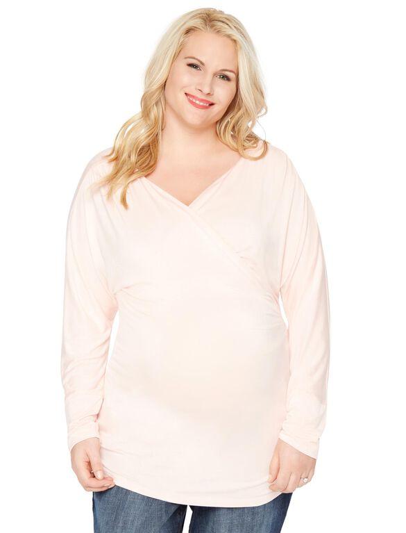 Plus Size Surplice Neckline Maternity Top, English Rose