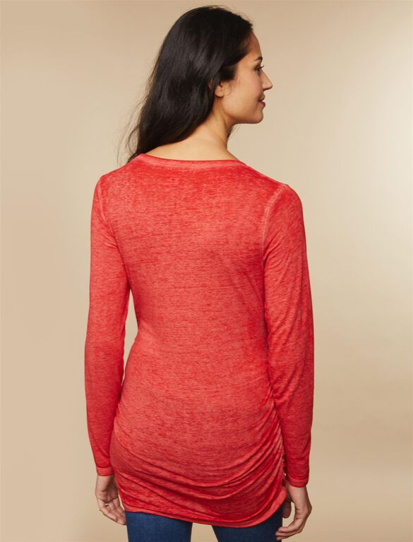 Tis The Season To Be Glowing Maternity Tee, Red