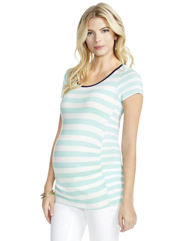 Jessica Simpson Striped Maternity Tee, Blue/White