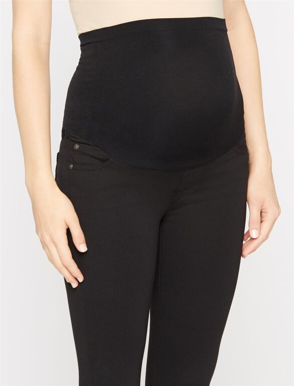 7 For Mankind Secret Fit Belly Boot Cut Maternity Pants, Black