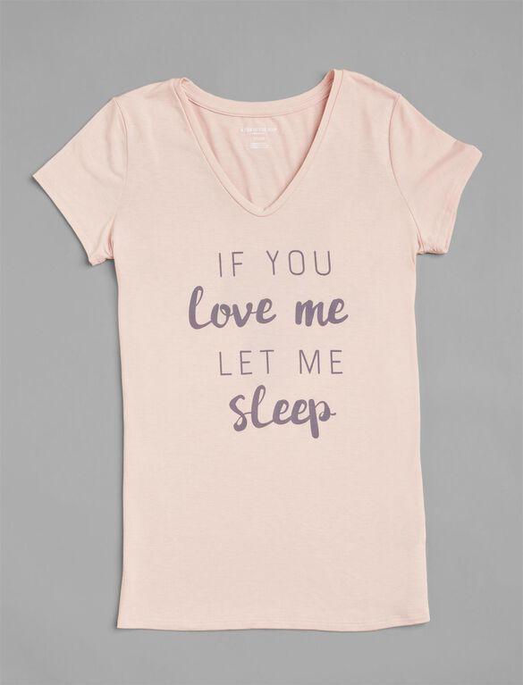 Let Me Sleep Maternity Tee, Blush